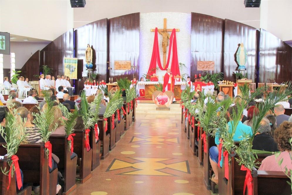 Celebração Domingo de Ramos acontece no dia 14/04/2019