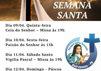 Programação da Semana Santa da Paróquia Santa Terezinha será transmitida pelas mídias sociais