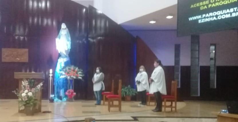 Com restrições, recomeçam as celebrações presenciais na Paróquia Santa Terezinha