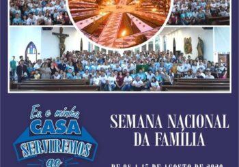 Semana Nacional da Família tem início neste sábado, 08 de agosto de 2020