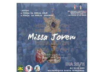 Primeira Missa Jovem acontece nesta quarta-feira, dia 25 de novembro