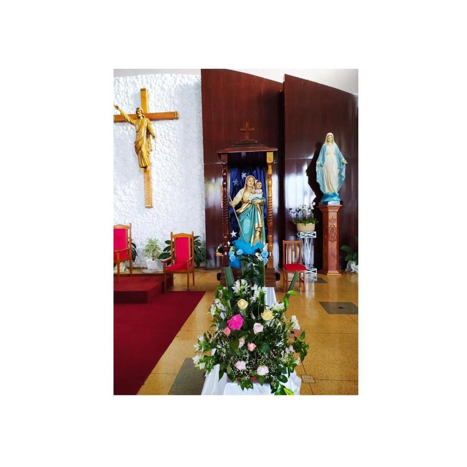 Par贸quia Santa Terezinha recebe a visita da imagem peregrina de Nossa Senhora de Bel茅m