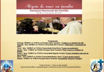Semana Nacional da Família tem início no próximo domingo